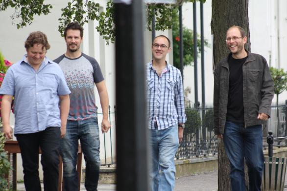casual shot of band members